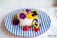 Una Chiffon Cake fiorita