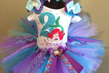 Ariel Little Mermaid Birthday Tutus / These Lovely Little Mermaid Tutu Sets are adorable and can be Customized as well!