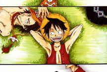 ASL and D-Brothers / One Piece - Ace, Sabo et Luffy, les trois frères. Tout simplement..