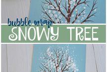 strom v zime