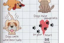 animali e personaggi a punto croce