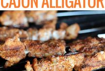 recipes- alligator and frog legs