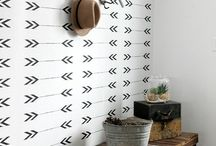 Wallpaper and Stencils / I love wallpaper and stencils to spruce up a space!!