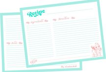 Printables / Freebies: Free printables, recipe cards, tags, banners, toppers, ...