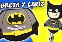 LIBRETA Y BOLÍGRAFO SuperHéroe IDEAS DÍA DEL PADRE…