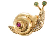 Jewelery Snail / Schnecke / Sümüklüböçek / Please Like and Pin ! Thank you
