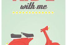 vespa's & bikes