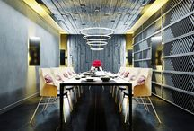 Restaurant. Creative solutions / The restaurant is designed in modern style with unconventional and creative solutions
