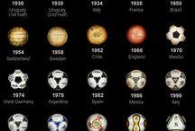 Balones de los mundiales  / Los balones usados en cada uno de los mundiales celebrados hasta el momento