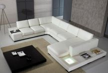 Designer Living Room Sectional / Leather Sofa Sectional