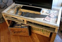 Crates & Pallets  / I love using common things for uncommon uses.  Crates and pallets are awesome!!  With a little paint, your really could bring them to life. / by Linda Leonard