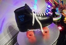 Roller skate cakes