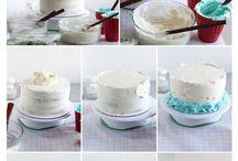 frosting decorating cake