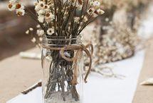 *Jam Jars & Bottles* / Wedding flowers in jars and bottles