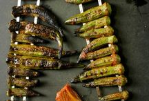 Grilled veggies from the garden