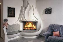 CHIMENEAS DE DISEÑO / Ideas para la decoracion del hogar con chimeneas con diseños originales