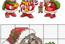 Výšivka vánoce medvídci