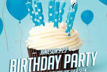happy.me birthday party flyer