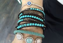 Summer Jewels / Turquoise dream bracelets and Summer jewels