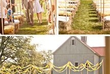 Wedding inspiration white/champagne country
