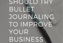 Bullet Journaling for Bloggers + Entrepreneurs / Tips, inspiration, and practical ideas for bloggers and entrepreneurs to stay organized using a bullet journal.