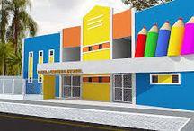 fachadas de escolas