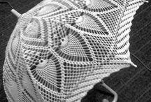 Crochês - Sombrinhas
