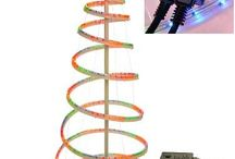 Outdoor Spiral Christmas Tree 5Ft LED Rope Lights Garden Decoration Multi Colour
