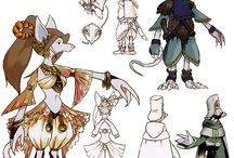 Concept Art - Characters / Sketches, Concept Art, doodles of characters / by Ashley Harrison