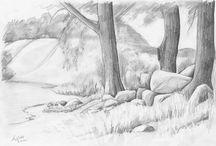 pencil landscapes