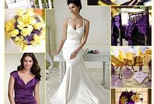 Elegant Wedding with Purple Colour Scheme / Purple bridesmaids, colour schemes, purple colour schemes, colourful bouquets including various shades of purple, butterflies, candles