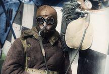 Pilote et Avion WW1 / Photos d'aviateurs et d'avions durant la première guerre mondiale
