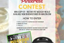 PIN TO WIN - Instant Pot Contest Board / Our Pinterest Contest Board!!   Follow this board to make sure you enter our next contest!