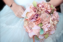 Fabric Flower bridal bouquets