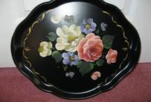 Toleware / Beautifully Painted Trays and other Items in the same style, / by Moira Jones