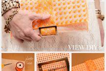 Cross stitch on plastic canvas
