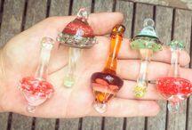 glass mushroom pendants