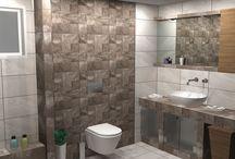 Ο κόσμος του Μπεζ / Πρόταση για ανακαίνιση μπάνιου με ππλακάκια από την σειρά Icon Beige με διάσταση 25 x 50 cm και επιφάνεια ΜΑΤ