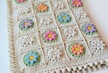Krem Çiçekli battaniye