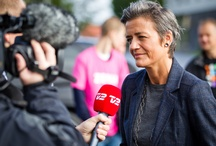 Vestager / Margrethe Vestager // Økonomi- og indenrigsminister // Politisk leder for Radikale Venstre