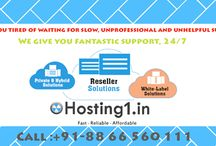 Reseller Hosting / hosting1.in is a leading web hosting provider company In India. We offering Domain Registration, Web Hosting, Hosted email, Websites, VPS, Cloud, Dedicated Servers and SSL Certificates.