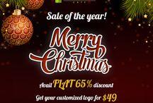 Christmas Sale! / Save Big this Christmas with Logo design Café.  #LogoDesignCafe #BigSale #Christmas