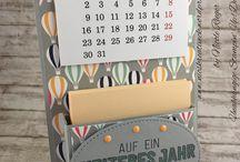 DIY | Basteln | Kalender / Ideen für einen Jahreskalender