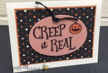 Stampin Up Halloween / These are Halloween cards and projects I've created using Stampin' Up! products. Full supply lists can be found on my blog www.stampwithpeggy.com come check it out.