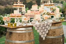 wedding cakes and desert bars