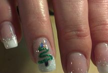 winter/christmas nail art