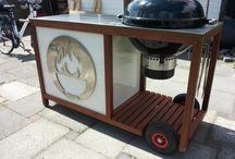 Weber kettle cart