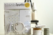 'Blank Looks' etc / A board for the 'Blank Looks' bare-material range of kits I sell on Etsy. Here you'll find links to the packs themselves plus inspiration for using some of their contents eg:Tyvek, mica tiles, canvas ... and much more.