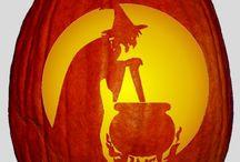 Kürbis Schnitzvorlagen / Halloween Kürbis
