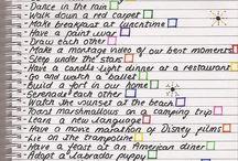 Pre-made bucket lists